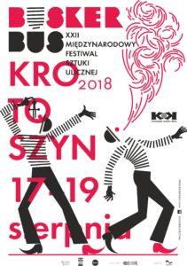 Plakat XXII Międzynarodowego Festiwalu Sztuki Ulicznej BuskerBus 2018 w Krotoszynie