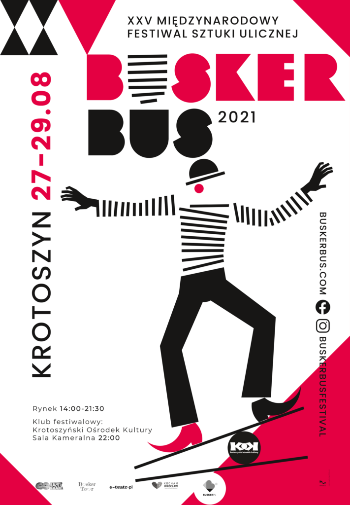 Poster of the International Festival of Street Art BuskerBus 2021 in Krotoszyn