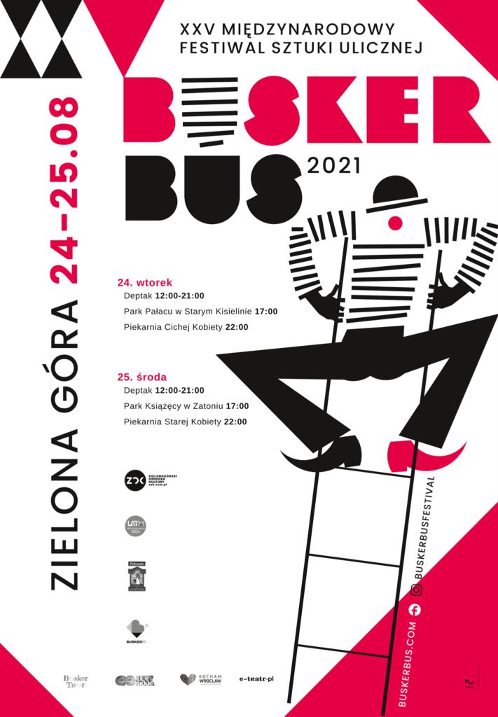Poster of the International Festival of Street Art BuskerBus in Zielona Góra