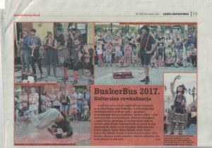 Relacja z fetiwalu BuskerBus w Gazecie Krotoszyńskiej