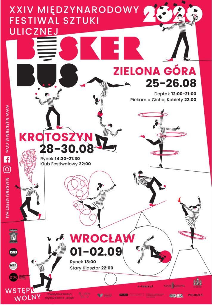 Plakat XXIV Międzynarodowego Festiwalu Sztuki Ulicznej BuskerBus