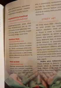 Informacja o festiwalu BuskerBus w przewodniku Pascala